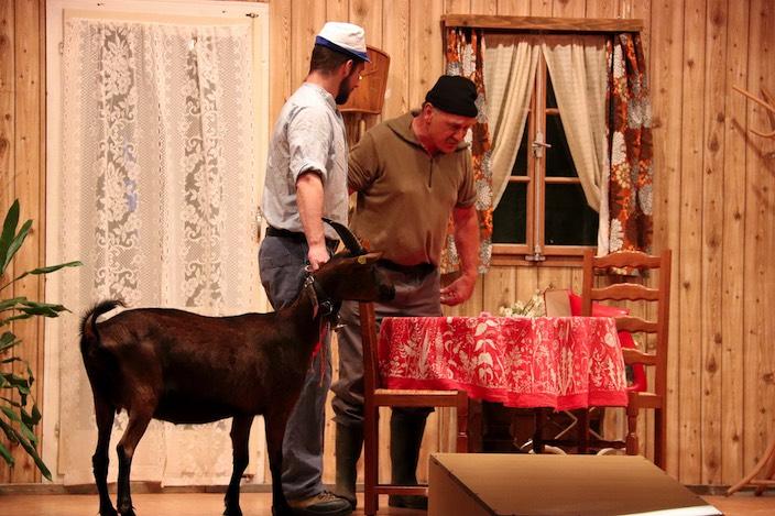 Auf einmal muss Gusti (rechts) auch noch auf Oskis Ziege aufpassen.