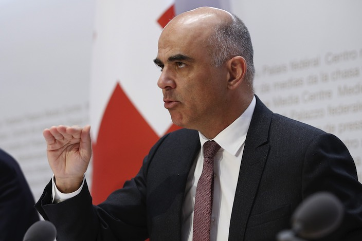 Bundesrat Alain Berset hat an der Medienkonferenz über den neuesten Stand im Kampf gegen das Corona-Virus informiert.