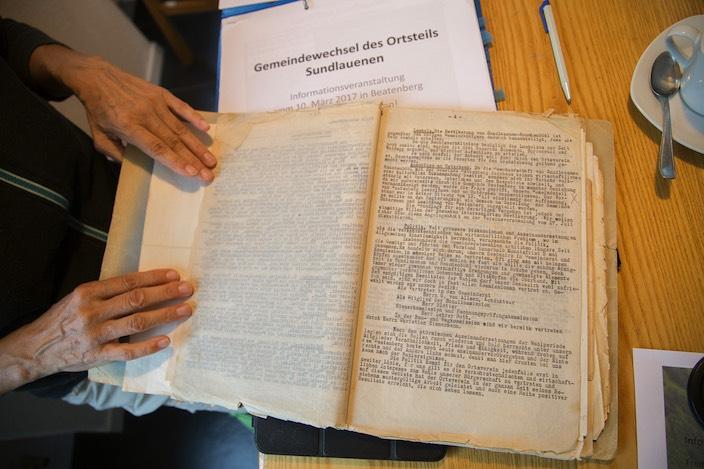 Bereits im Protokoll der ersten Hauptversammlung des Ortsvereins Sundlauenen aus dem Jahr 1928 ist der Gemeindewechsel ein Traktandum.