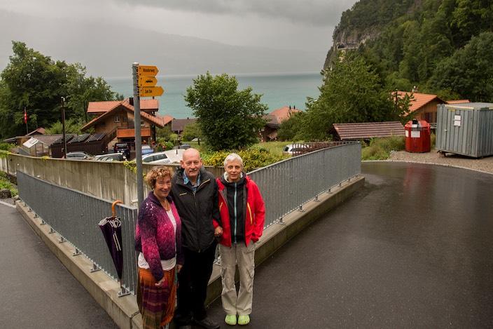 Als Kerngruppe des Ortsvereins setzen sich Monica Berger (links), André Stettler und Marianne Graf für den Gemeindewechsel von Sundlauenen ein.