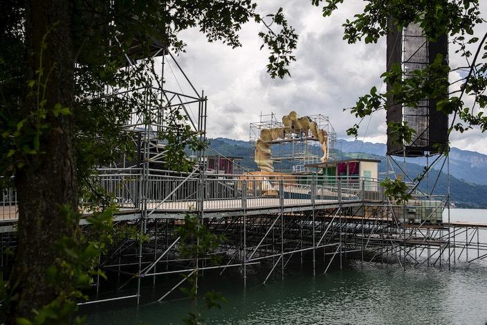 Sämtliche Bühnenelemente der diesjährigen Thunerseespiele werden von Schweizer Produzenten gefertigt.