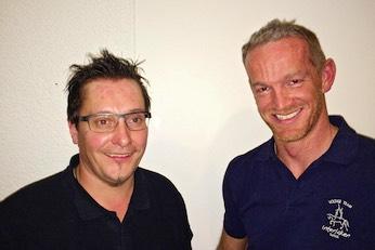 Der neue und der scheidende Präsident des Voltige Team Interlaken: Samuel Feuz (links) und Hans Romang.