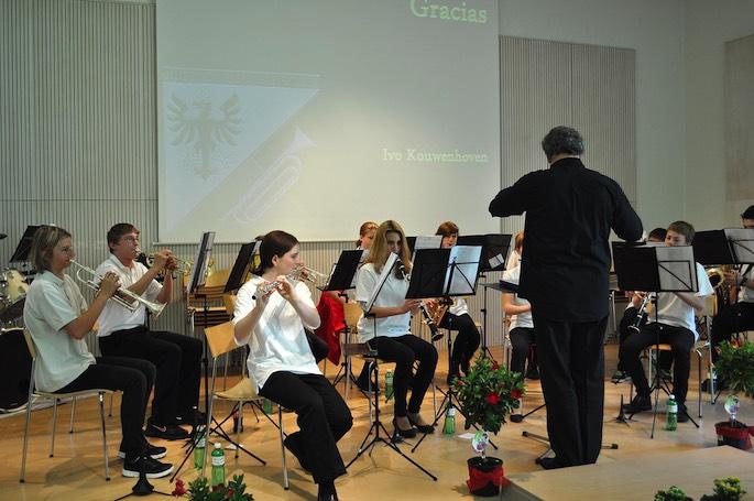 Der Nachwuchs steht bereits in den Startlöchern: Die Jugendmusik Meiringen zeigte ein wundervolles Spiel.