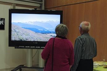 Neben 40 ausgestellten Fotos waren an der Vernissage in einer Bilderschau 290 weitere Impressionen der Region zu sehen.