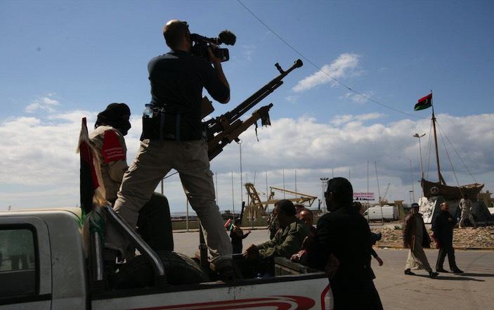 Für eine SRF-Reportage über den Arabischen Frühling drehte Gafner im Februar 2011 die Revolution in Libyen.