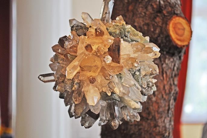 Wunderschöne Kristallkugel.