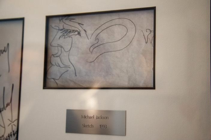 Michael Jackson war nicht nur in musikalischer Hinsicht ein Künstler. Diese Zeichnung hat auch er gefertigt.