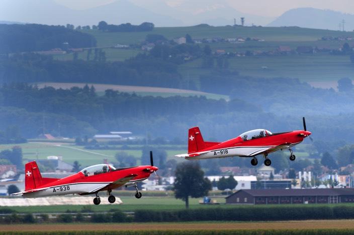 Luftwaffe hat PC-7 am Schreckhorn gefunden