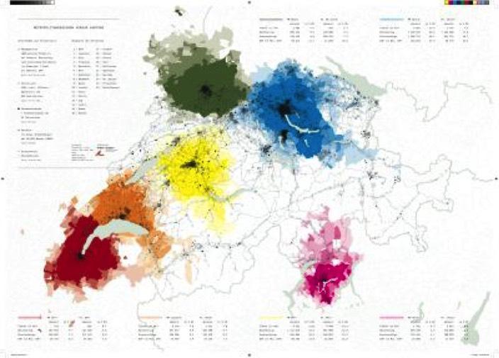Jungfrau Zeitung - Weisse und farbige Regionen