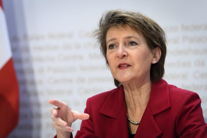 Simonetta Sommaruga, Vorsteherin des Eidgenössischen Departements für Umwelt, Verkehr, Energie und Kommunikation.