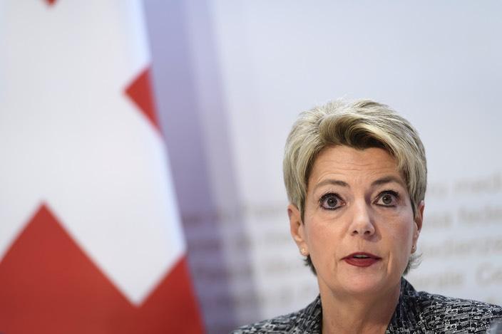 Karin Keller-Sutter, Vorsteherin des Eidgenössischen Justiz- und Polizeidepartements EJPD.